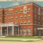 George Wythe Hotel, Large brick 4 story building.